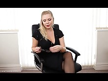 boss jerking milf