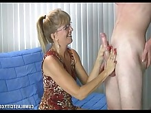 big-cock cumshot granny handjob hot huge-cock jerking mature milf