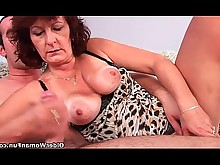big-cock granny hairy hd mammy mature old-and-young pussy sucking