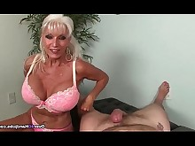 big-tits boobs big-cock granny handjob huge-cock jerking mature milf