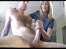 blonde big-cock handjob huge-cock jerking mature milf