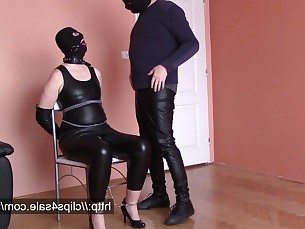 amateur bdsm couple cumshot fetish high-heels milf really slave