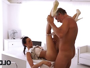 amateur anal beauty blowjob boss brunette daddy daughter fuck