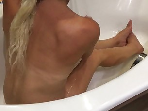 amateur bathroom blowjob cumshot feet foot-fetish fuck hot milf