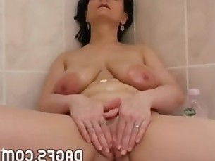 bathroom big-tits boobs dildo fetish girlfriend kiss mammy masturbation