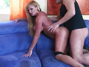 big-tits blonde big-cock couch cumshot doggy-style hot huge-cock licking