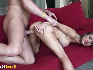 big-tits blowjob brunette doggy-style small-tits little mammy pornstar