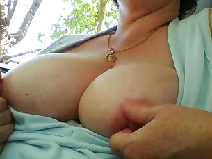 amateur beauty big-tits mammy milf natural nipples playing public